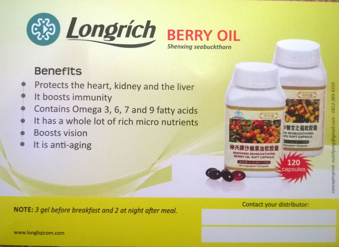 Longrich Nigeria - Products - Berry Oil