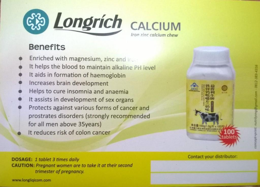 Longrich Nigeria - Products - Calcium