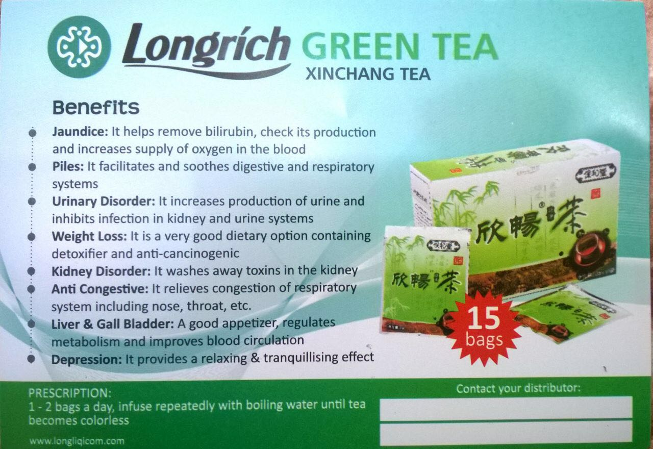 Longrich Nigeria - Products - Green Tea 1